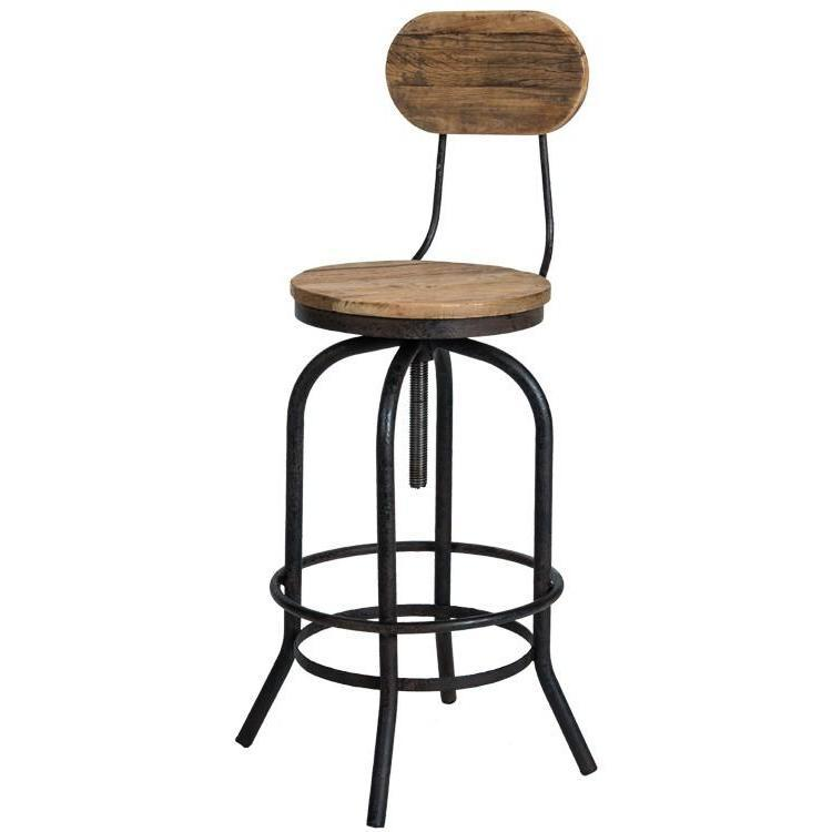 Vintage Industrial Architect Stool-Furniture-A Cottage in the City