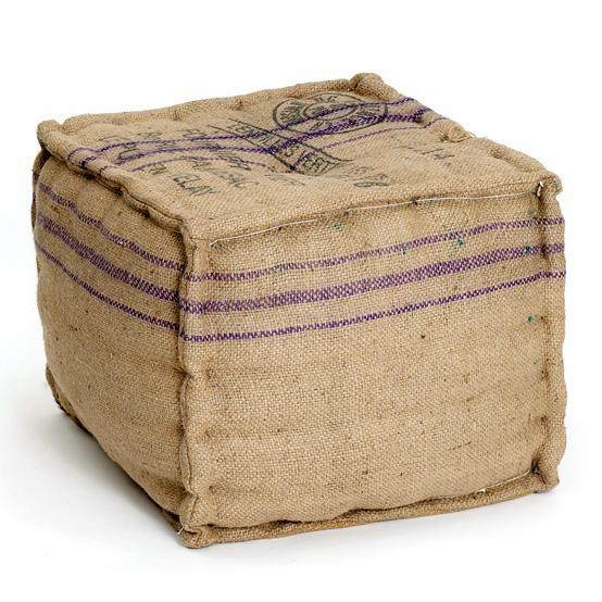 Vintage Sack Square Ottoman-Decor-A Cottage in the City