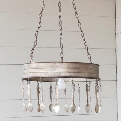 Vintage Spoon Chandelier