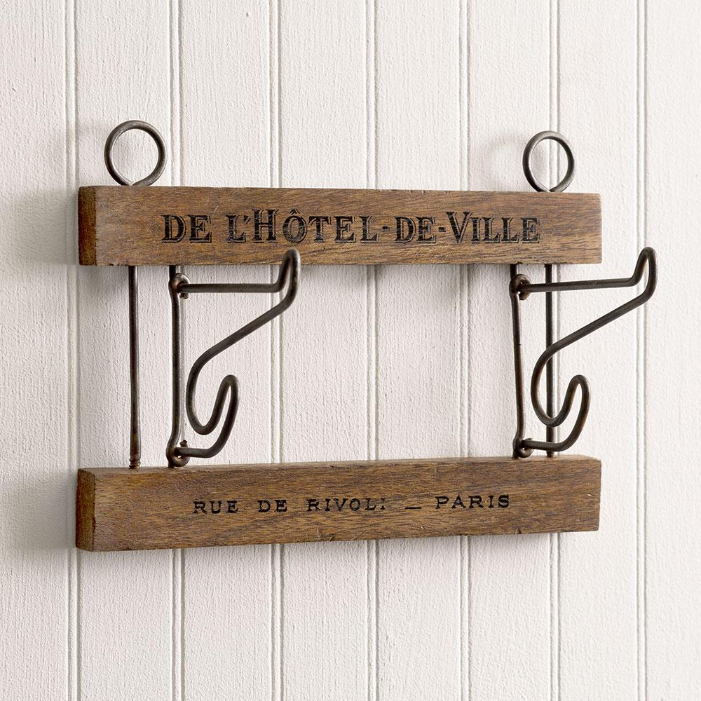Vintage Style Hotel De Ville Wall Hooks-Decor-A Cottage in the City