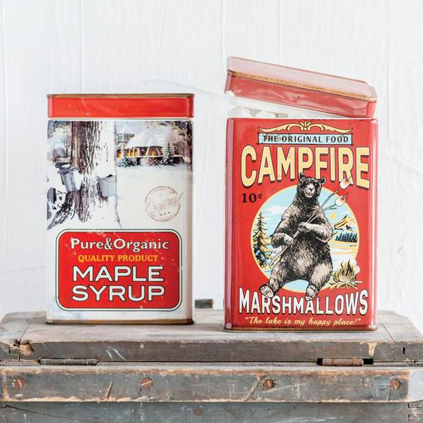 Vintage Tin Ceramic Container-Seasonal-Creative-Maple Syrup-A Cottage in the City