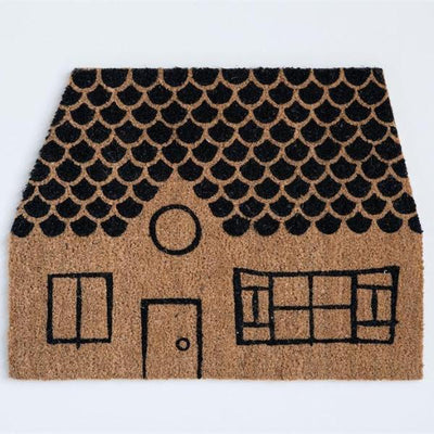 Whimsical House Door Mat