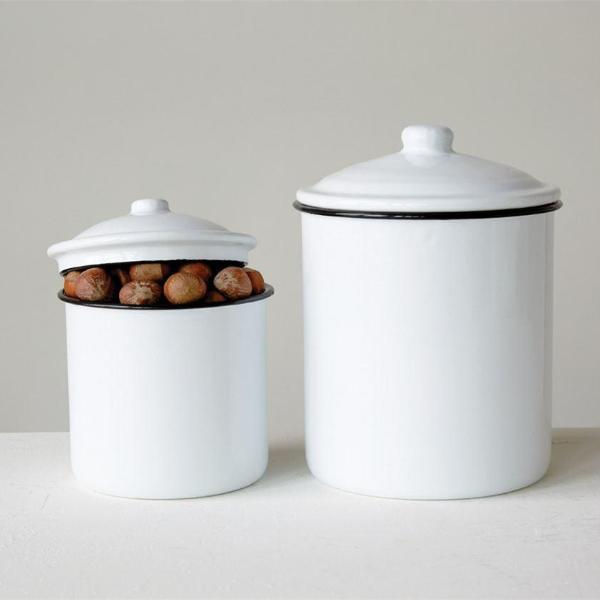 White Enamel Container-Storage-A Cottage in the City
