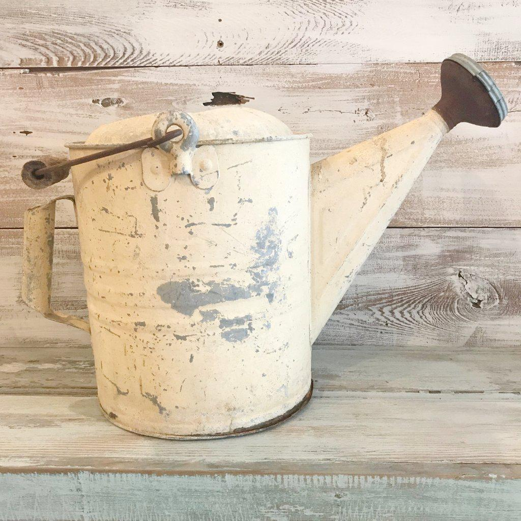 White Vintage Watering Can-Vintage-Vintage-A Cottage in the City