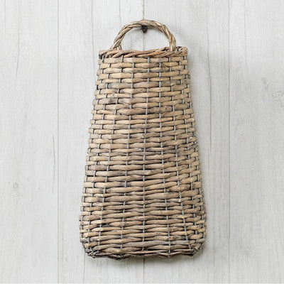 Wide Bottom Wicker Wall Basket