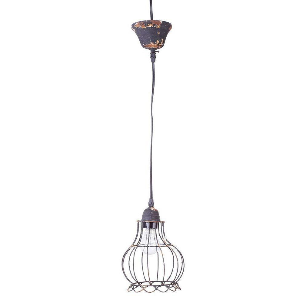 Wire Hanging Pendant Lamp-Furniture-Creative-B-A Cottage in the City
