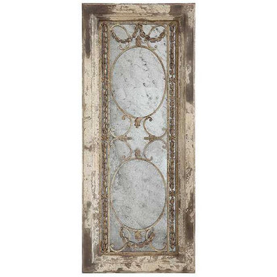 Wood & Metal Antiqued Mirror
