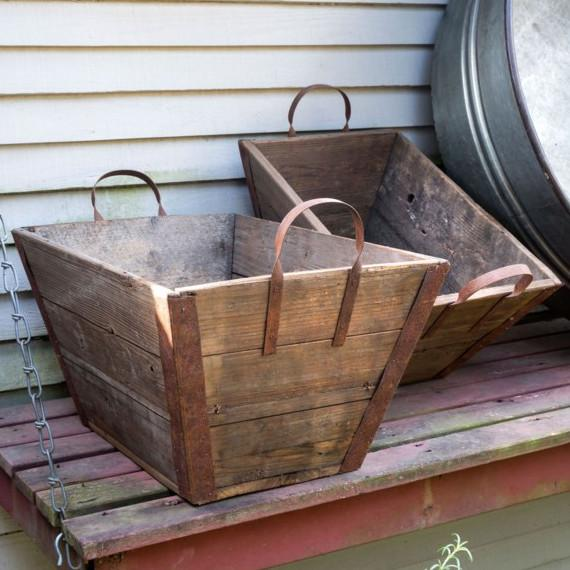Wooden Lug Basket-Storage-Park Hill Collection-Small-A Cottage in the City
