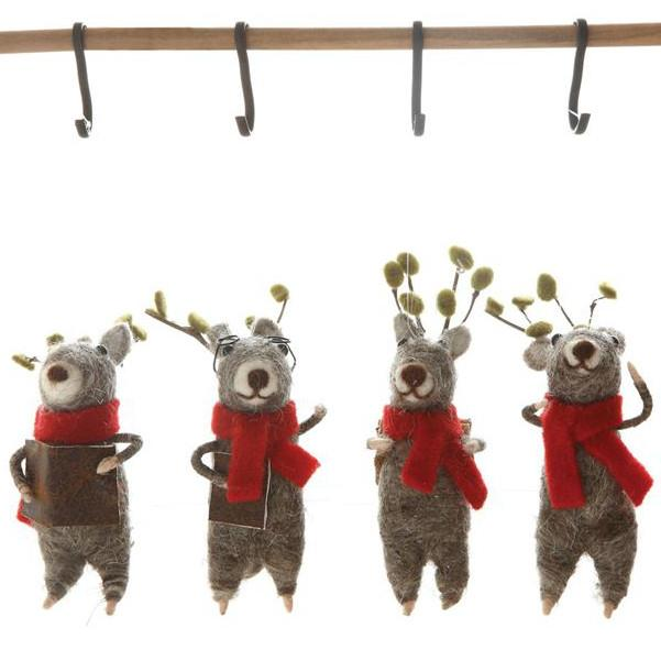 Wool Felt Deer Ornament-Seasonal-A Cottage in the City
