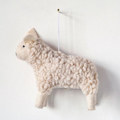 Wool Felt Sheep Ornament