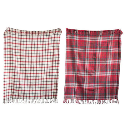 Woven Plaid Throw With Fringe-Decor-Creative-Red-A Cottage in the City