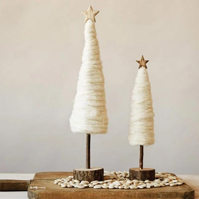 Wool Cream Christmas Tree