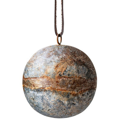 Oxidized Metal Ball Ornament