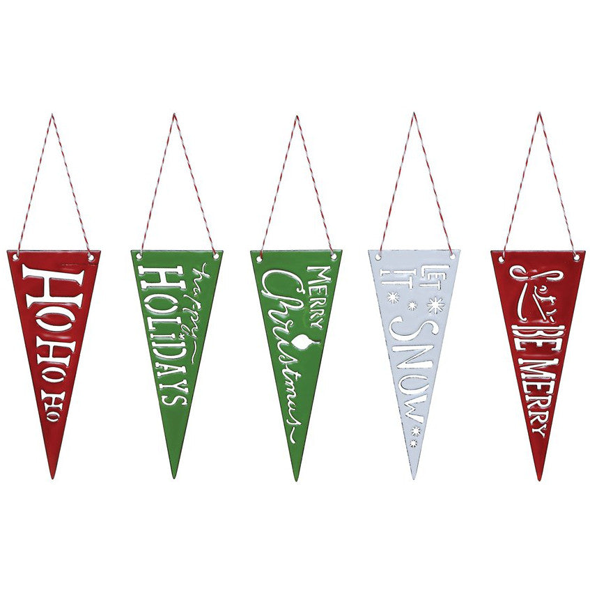 Enameled Cutout Pennant Ornament-Seasonal-A Cottage in the City