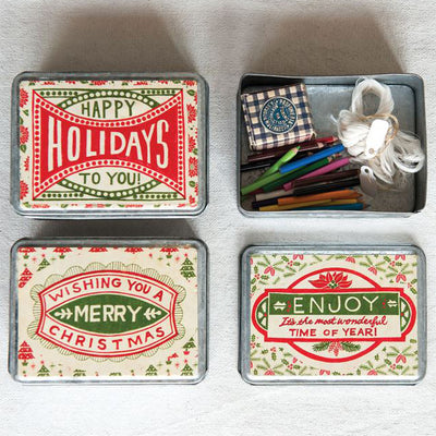 Holiday Greetings Trinket Box