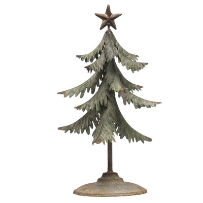 Rustic Metal Everfir Tree With Star