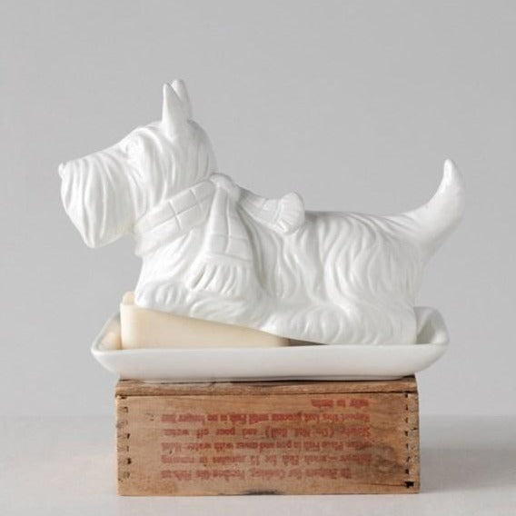 Scottie Butter Dish-Tabletop-A Cottage in the City