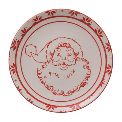 Jolly Red Santa Plate