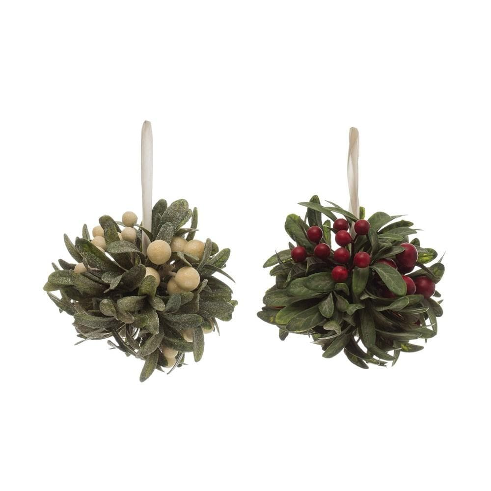 Faux Berry & Leaf Ball Ornament-Seasonal-A Cottage in the City