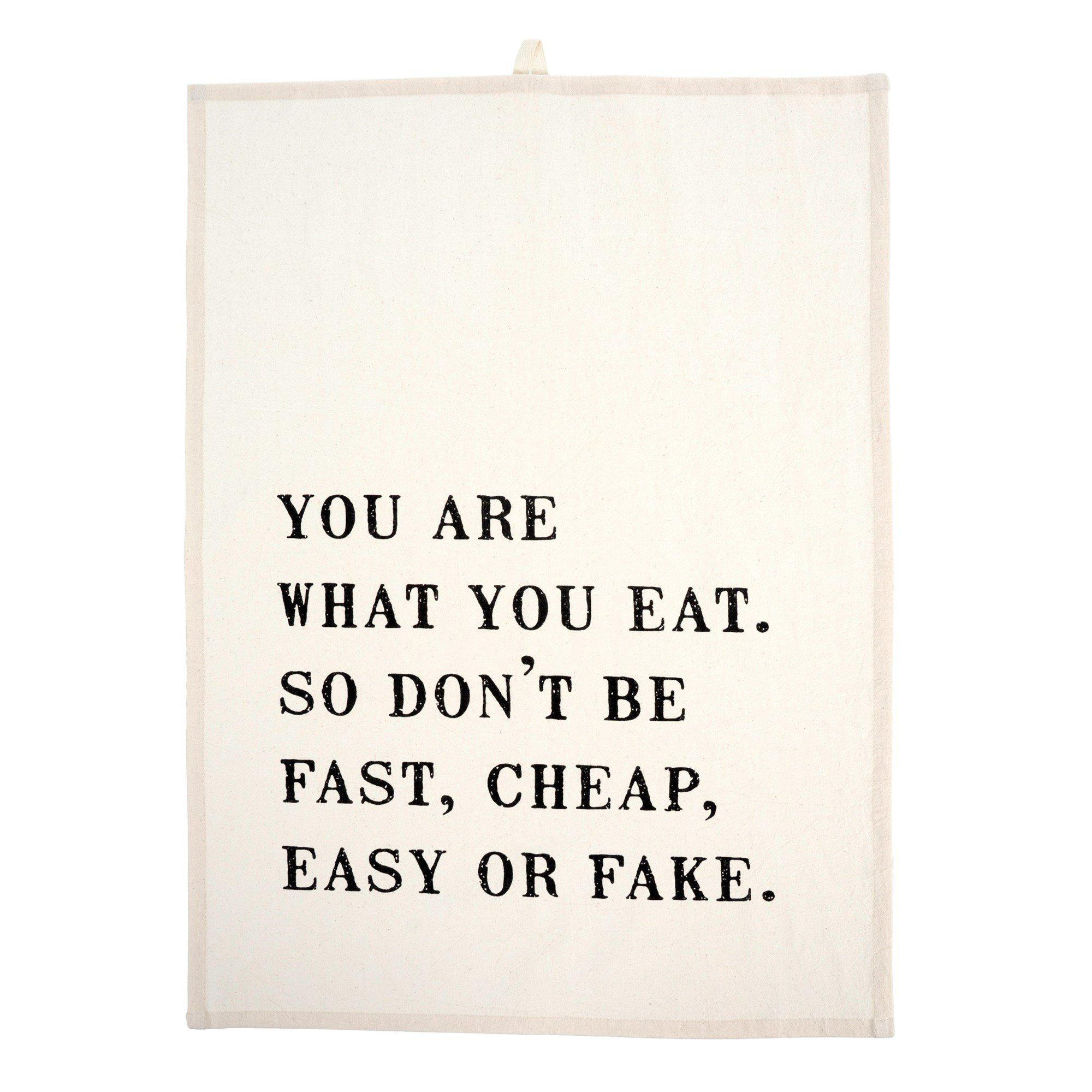 Your Are What You Eat Dishtowel-Tabletop-A Cottage in the City