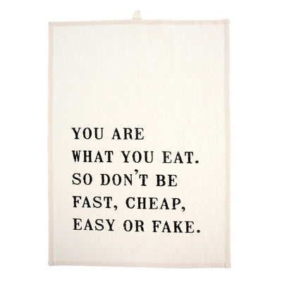 Your Are What You Eat Dishtowel