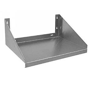 "Royal Industries Microwave Shelf Solid 18""x24"" Wall Mounted Shelf, Stainless Steel 18 Gauge, Silver, Capacity 185 LB, Commercial Grade-NSF Certified"