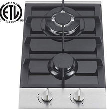 Load image into Gallery viewer, Ramblewood 2 burner gas cooktop(Natural Gas), GC2-48N