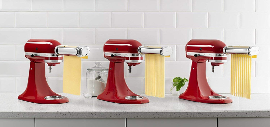 KitchenAid RKSMPRA 3-Piece Pasta Roller & Cutter Attachment Set (Renewed)