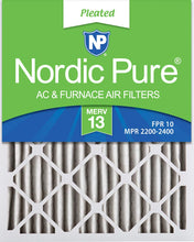 Load image into Gallery viewer, Nordic Pure 16x24x2 MERV 13 Pleated AC Furnace Air Filters 3 Pack, 3 PACK, 3 PACK