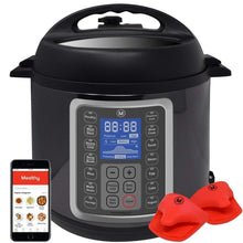 Load image into Gallery viewer, Mealthy MultiPot 9-in-1 Programmable Pressure Cooker 6 Quarts with Stainless Steel Pot, Steamer Basket, instant access to recipe app. Pressure cook, slow cook, sauté, rice cooker, yogurt, steam