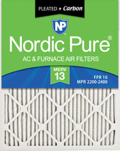 Load image into Gallery viewer, Nordic Pure 18x24x1M13+C-6 MERV 13 Plus Carbon AC Furnace Air Filters, Qty-6