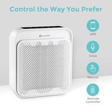 Load image into Gallery viewer, Air Purifier for Home with True HEPA Filter, Odor Eliminator Air Cleaner for Smokers, Dust, Home and Pets, WiFi/Voice/Remote Control, Ultra-Quiet Operation and Child Clock