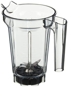 Vita Mix Clear Compact Blender Container Only with Wet Blade - No Lid, 32 Ounce - 1 each.