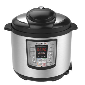 Instant Pot IP-LUX60V3 LUX60V3 V3 6 Qt 6-in-1 Multi-Use Programmable Pressure, Slow, Rice Cooker, Sauté, Steamer, and Warmer, 6 Quart, Stainless Steel/Black