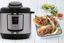 Load image into Gallery viewer, Instant Pot IP-LUX60V3 LUX60V3 V3 6 Qt 6-in-1 Multi-Use Programmable Pressure, Slow, Rice Cooker, Sauté, Steamer, and Warmer, 6 Quart, Stainless Steel/Black
