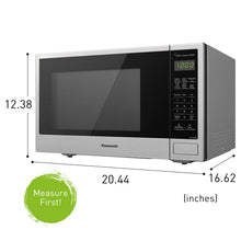 Load image into Gallery viewer, Panasonic Countertop Microwave Oven with Genius Sensor Cooking, Quick 30sec, Popcorn Button, Child Safety Lock and 1100 Watts of Cooking Power - NN-SU696S - 1.3 cu. ft (Stainless Steel)