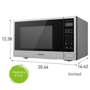 Panasonic Countertop Microwave Oven with Genius Sensor Cooking, Quick 30sec, Popcorn Button, Child Safety Lock and 1100 Watts of Cooking Power - NN-SU696S - 1.3 cu. ft (Stainless Steel)