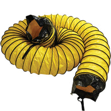 "Load image into Gallery viewer, Rubber-Cal ""Air Ventilator Yellow"" Ventilation Duct Hose (Fully Stretched), 10-Inch by 25-Feet"