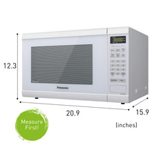 Load image into Gallery viewer, Panasonic Microwave Oven NN-SN651WAZ White Countertop with Inverter Technology and Genius Sensor, 1.2 Cu. Ft, 1200W