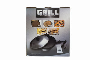 NIAT 16 inch Non-Stick Electric Grill (Mitad, Mogogo) - for Injera, Pizza, Flatbread, Pita, Tortilla, Chapati, Lefse. Dome Cover is INCLUDED. For USA and CANADA Only, Comes with 120V Power Plug.