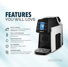 Load image into Gallery viewer, Gourmia GCM5100 Espresso Machine, Multi Capsule, White