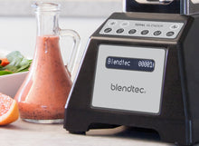 Load image into Gallery viewer, Blendtec Total Classic Original Blender with FourSide Jar (75oz volume/32 oz Wet/Dry Fillable), Professional-Grade Power, 6 Pre-programmed Cycles, 10-speeds, Black