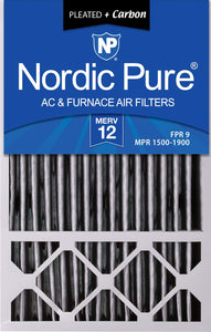 Nordic Pure 16x25x5HPM12C-4 Honeywell Replacement Pleated MERV 12 Plus Carbon Filter (4 Pack), 16 x 25 x 5""