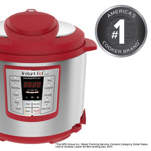 Load image into Gallery viewer, Instant Pot Red Lux 60 Multi-Use Programmable Pressure Cooker, 6 Quart