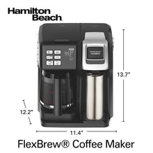 Load image into Gallery viewer, Hamilton Beach 49976 FlexBrew Coffee Maker, Single Serve & Full Pot, Compatible with K-Cup Pods or Grounds, Programmable, Black (49976)