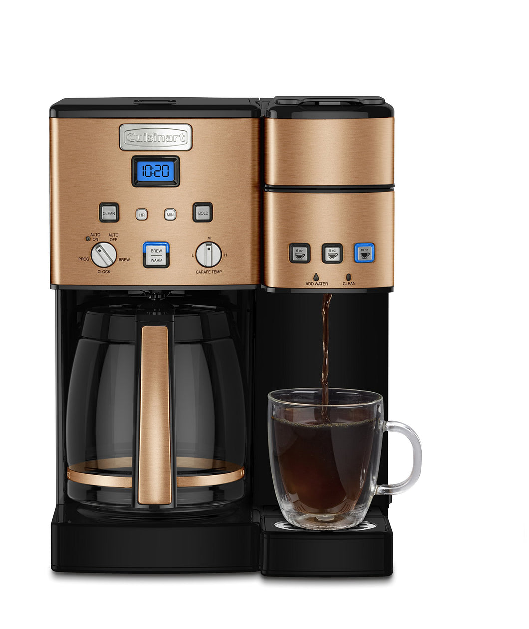 Cuisinart SS-15CP 12 Cup Coffee Maker And Single-Serve Brewer, Copper