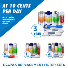 Load image into Gallery viewer, iSpring RCC7AK 6-Stage Superb Taste High Capacity Under Sink Reverse Osmosis Drinking Water Filter System with Alkaline Remineralization - Natural pH