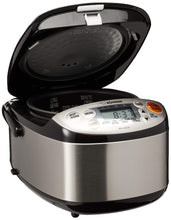 Load image into Gallery viewer, Zojirushi NS-LGC05XB Micom Rice Cooker & Warmer, 3-Cups (uncooked), Stainless Black