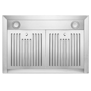 FireBird European Style Wall Mount Stainless Steel Range Hood Vent with Touch Sensor Control and Baffle Filters (30 in.)