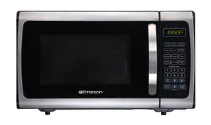 Emerson Radio Emerson ER105005 Single Microwave Oven - Stainless Steel, Black, 0.9,